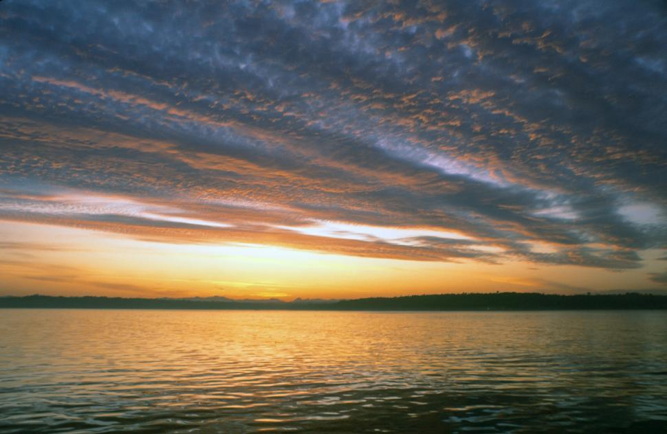Download Free Stock HD Photo of Sunrise over Puget Sound Online