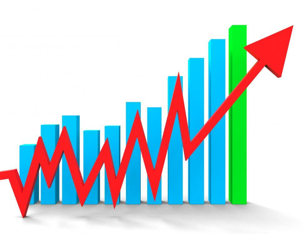 Download Free Stock HD Photo of Increasing Graph Shows Financial Report And Advance Online