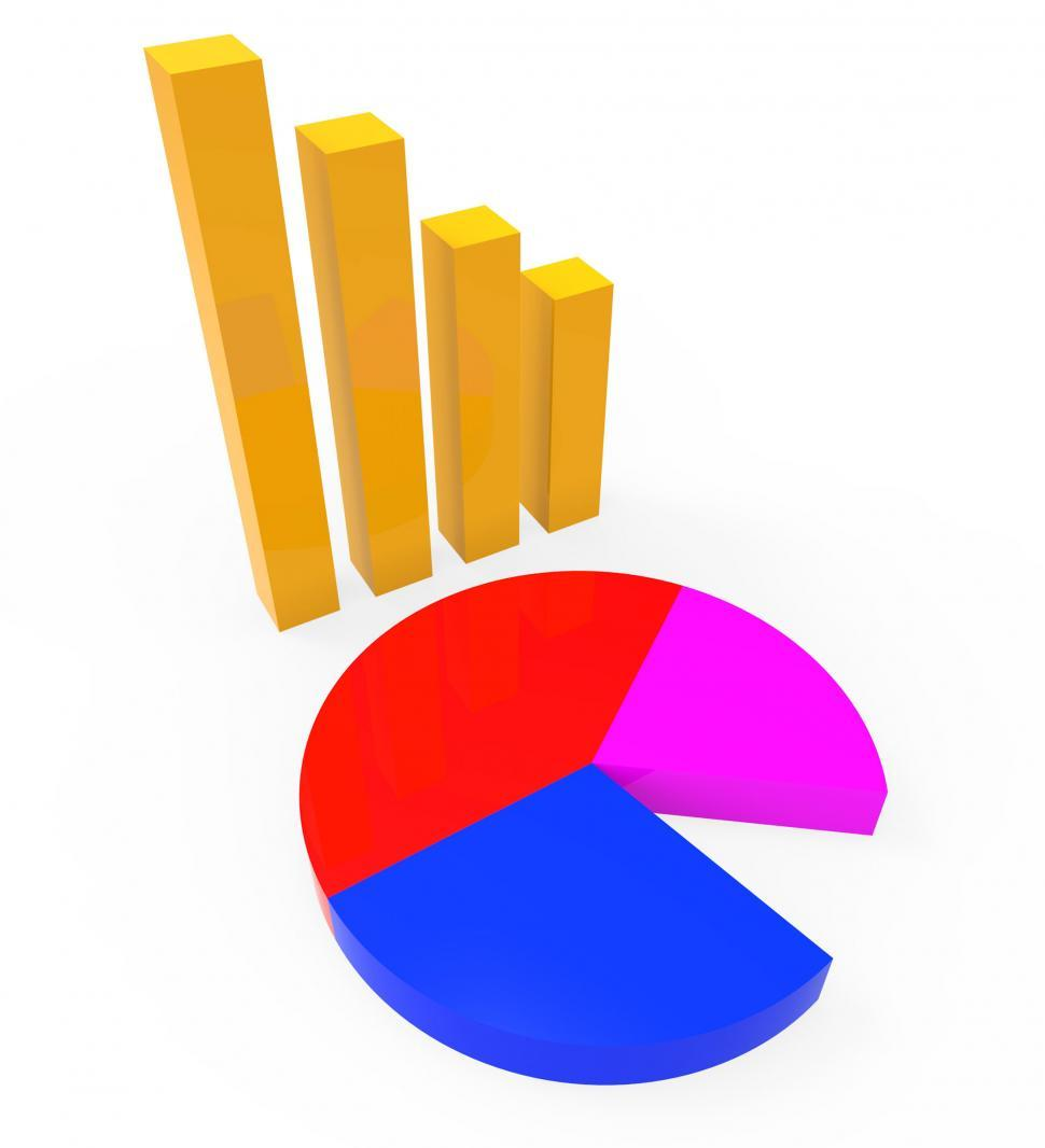 Download Free Stock HD Photo of Graph Report Shows Graphs Charts And Infochart Online