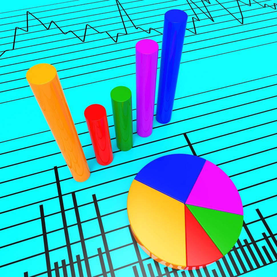 Download Free Stock HD Photo of Graph Report Shows Infochart Document And Investment Online