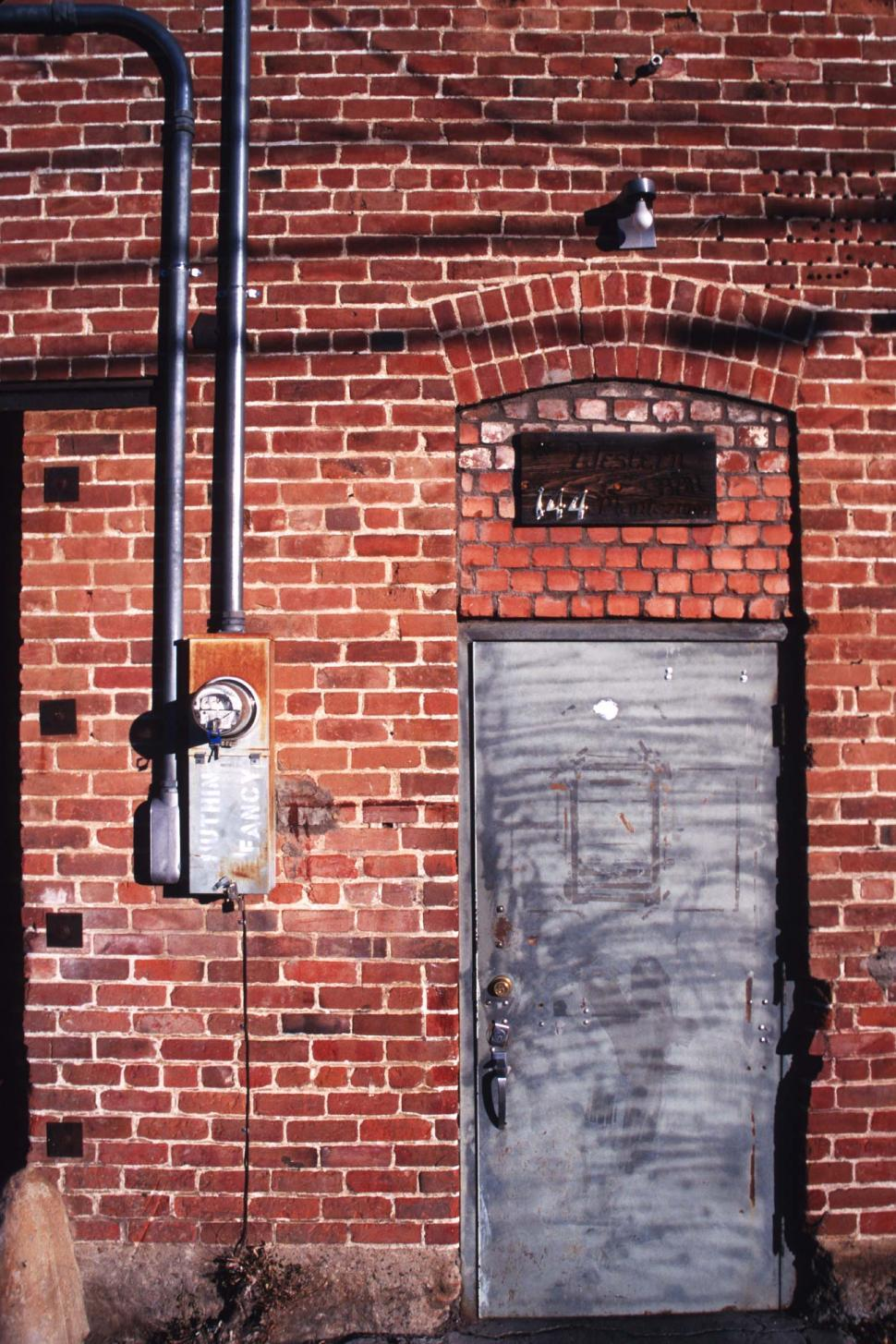 Download Free Stock HD Photo of Brick back entrance Online