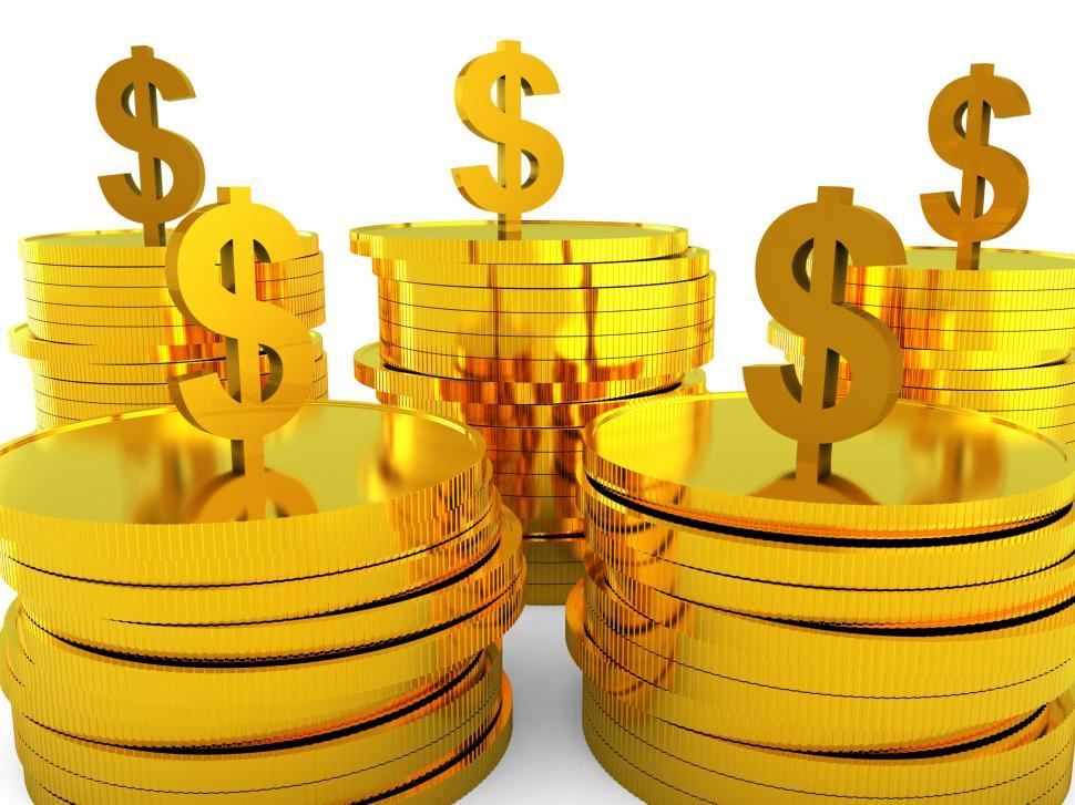 Download Free Stock HD Photo of Dollars Cash Indicates Invest Bank And Increase Online