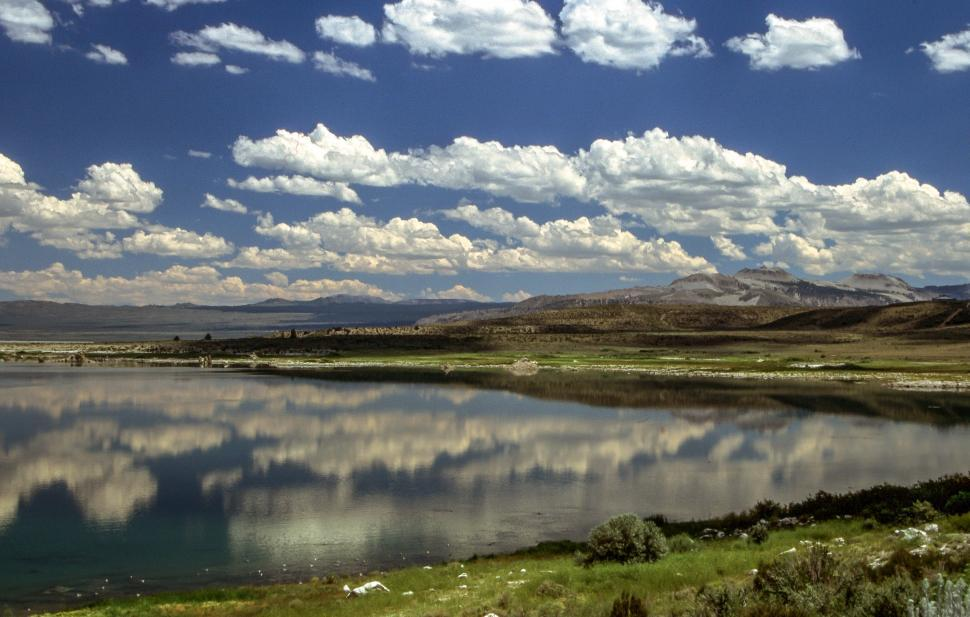 Download Free Stock HD Photo of Mono Lake with clouds Online