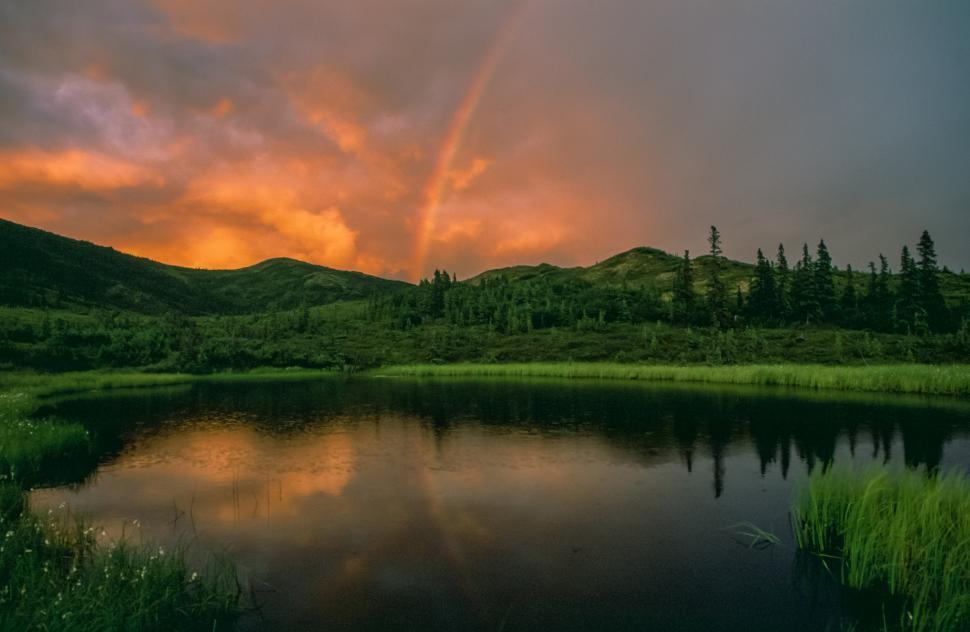 Download Free Stock HD Photo of Alaska scenic lake Online