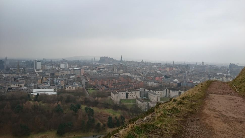 Download Free Stock HD Photo of The Lothians and Arthurs seat in Edinburgh  Online