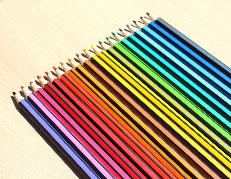 Download Free Stock HD Photo of Color Pencil Set  Online