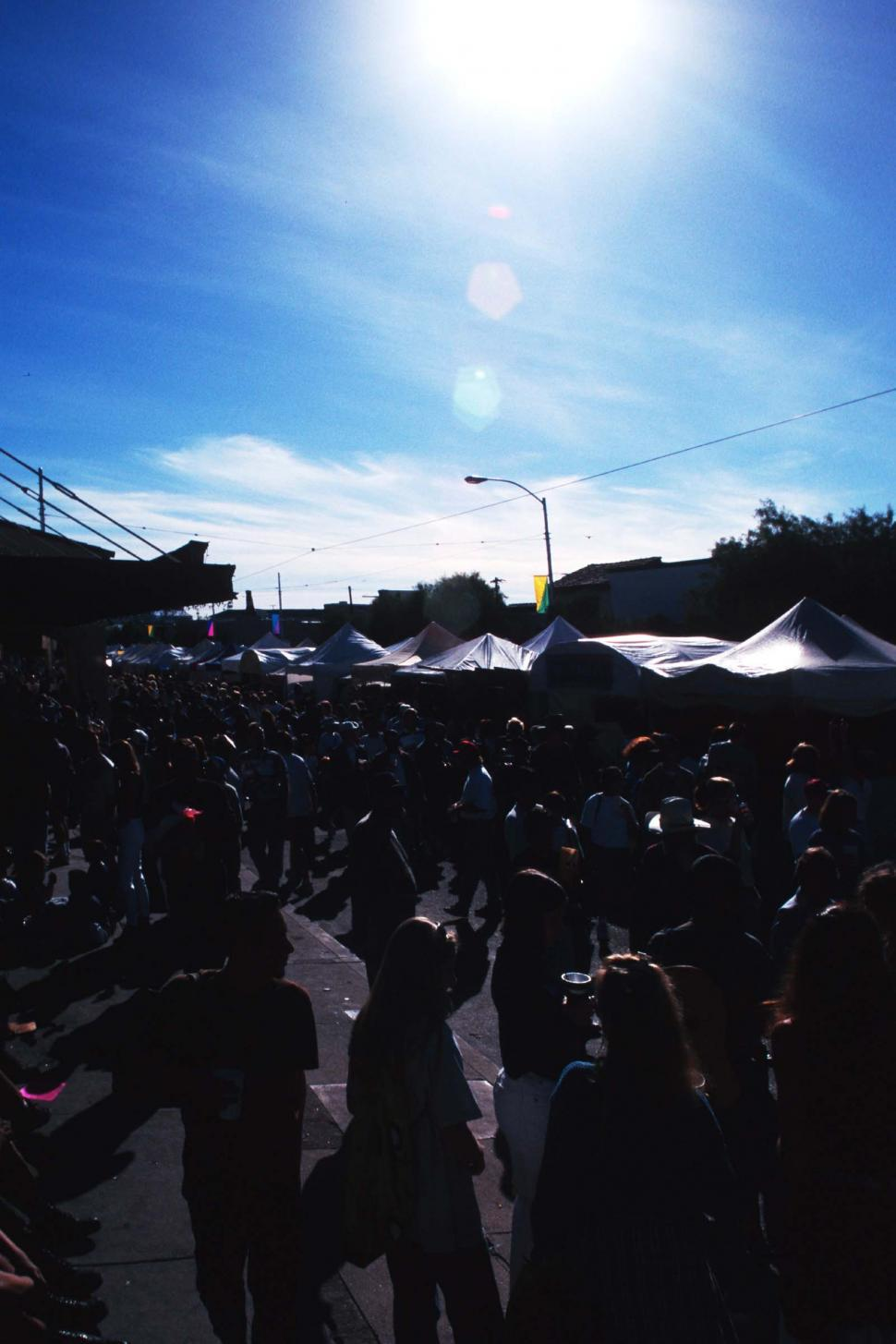 Download Free Stock HD Photo of Street fair silhouettes Online