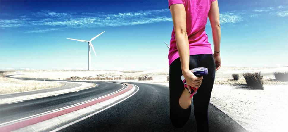 Download Free Stock HD Photo of Young Female Runner Stretching before Jogging - Women Fitness an Online