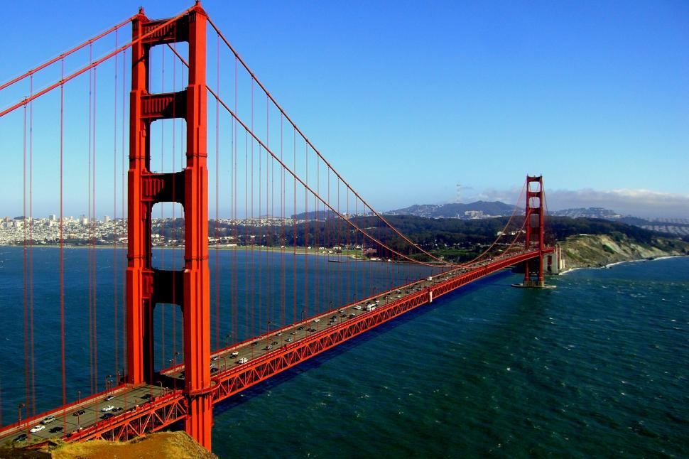 Download Free Stock HD Photo of Golden Gate on a Sunny Day Online