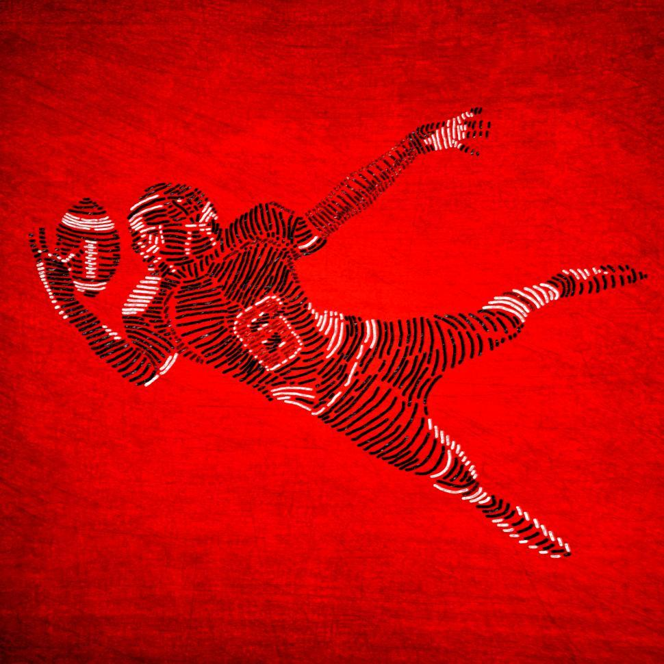 Download Free Stock HD Photo of American Football Player on Red Background - Abstract Illustrati Online