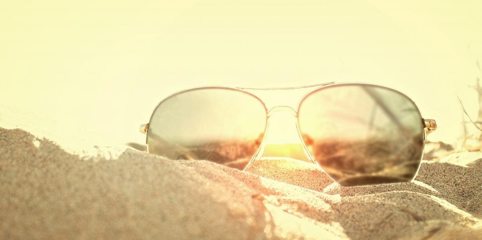 9fba1fd9f64c Get Free Stock Photos of Sunglasses on the Sand at Sunset - Beach ...