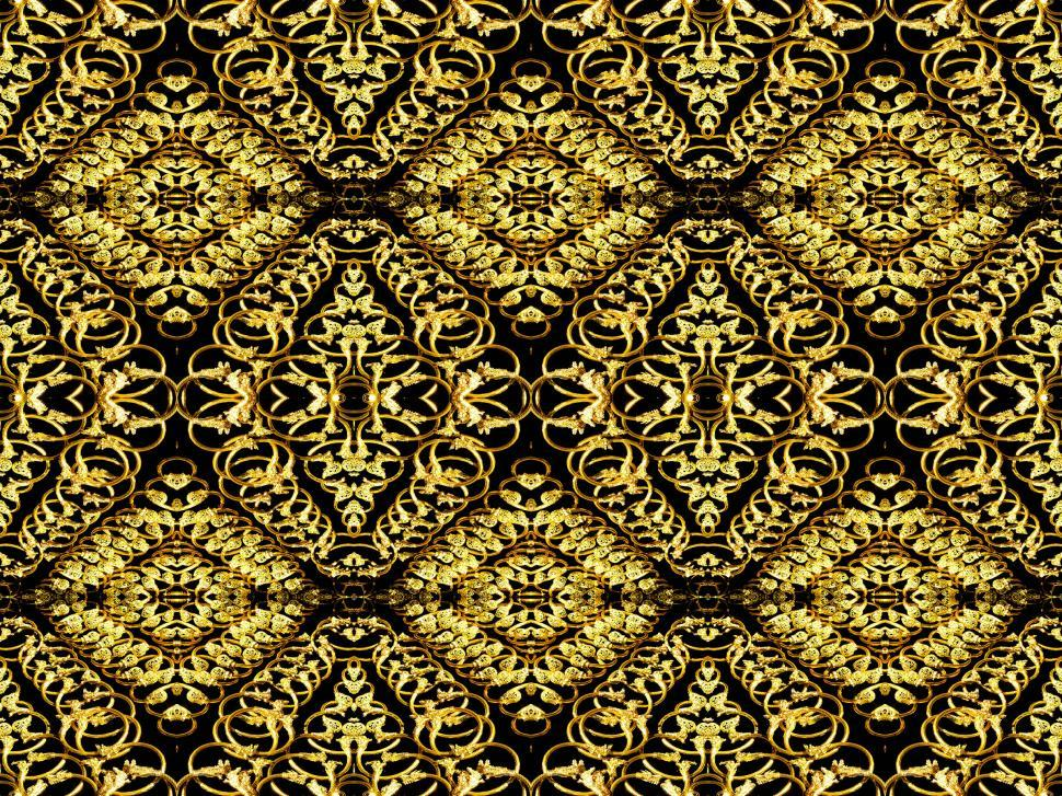 Download Free Stock HD Photo of Golden symmetry background pattern Online