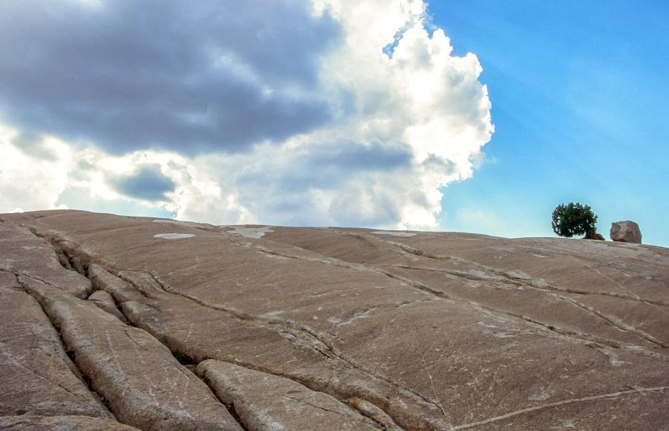Download Free Stock HD Photo of Half Dome and clouds Online