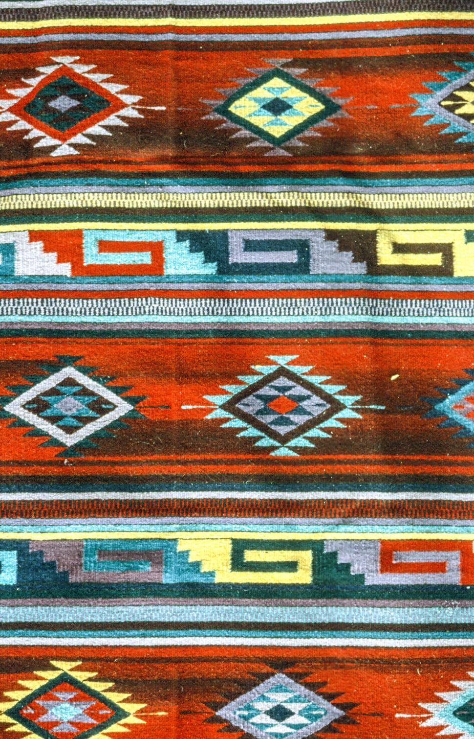 Download Free Stock HD Photo of Woven Native American Rug Online