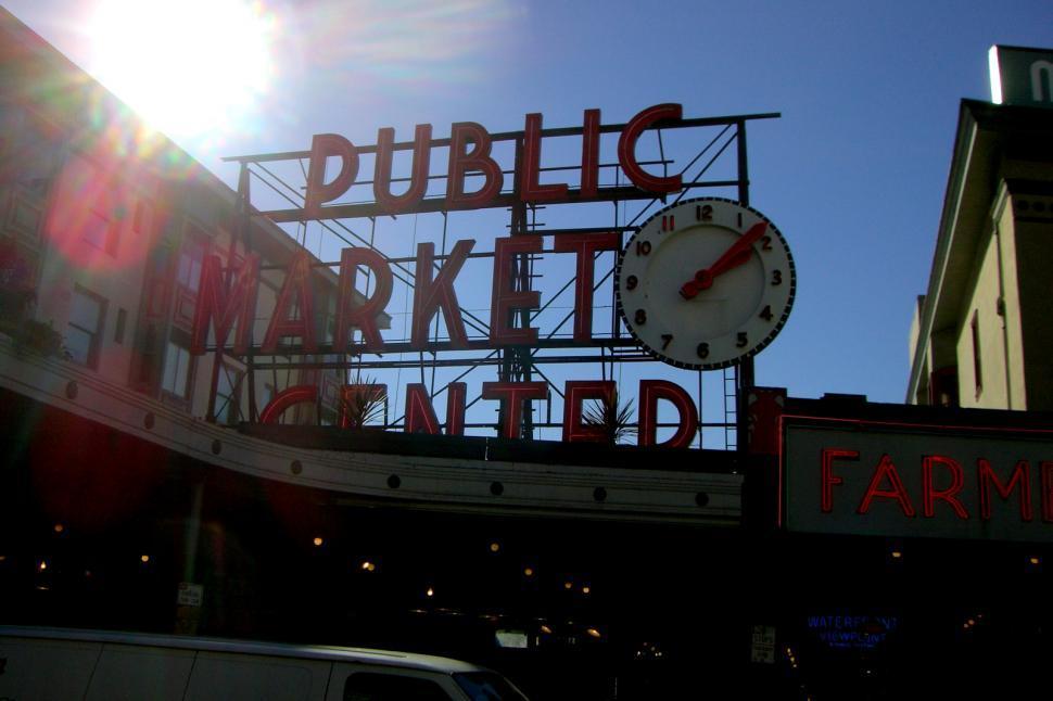 Download Free Stock HD Photo of Seattle Public Market Online