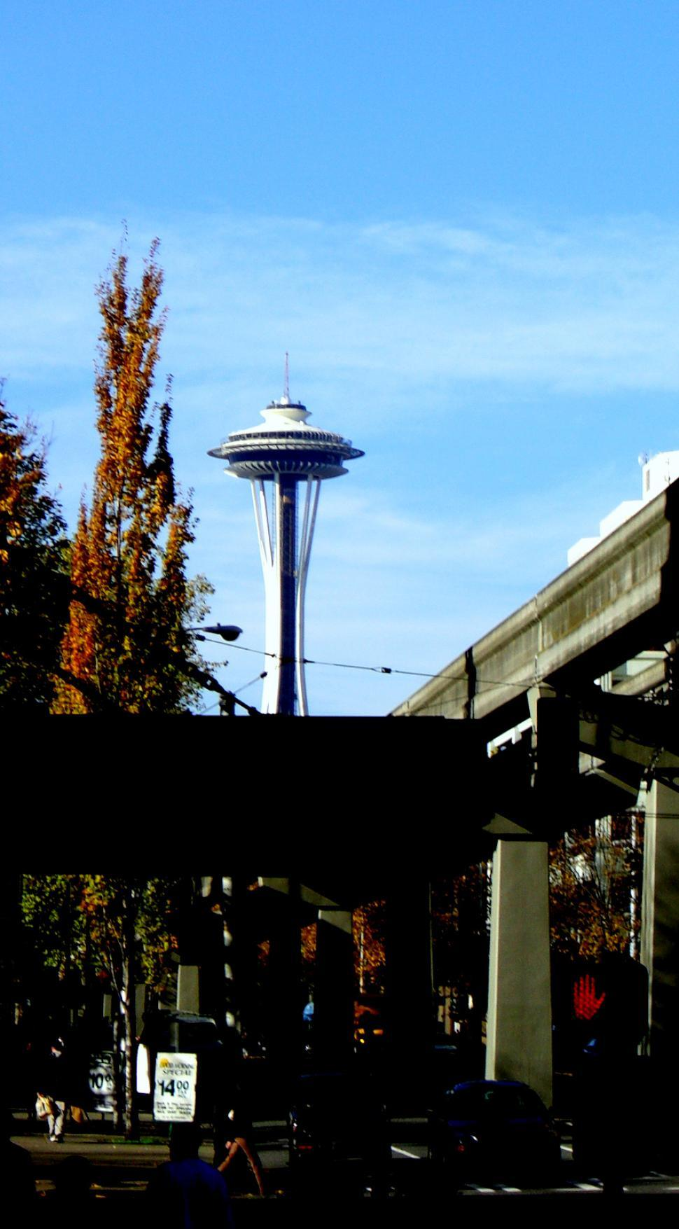 Free image of Space Needle in the distance from my trip to Seattle last year