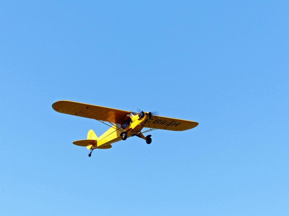 Download Free Stock HD Photo of Airplane Against A Cloudless Sky Online