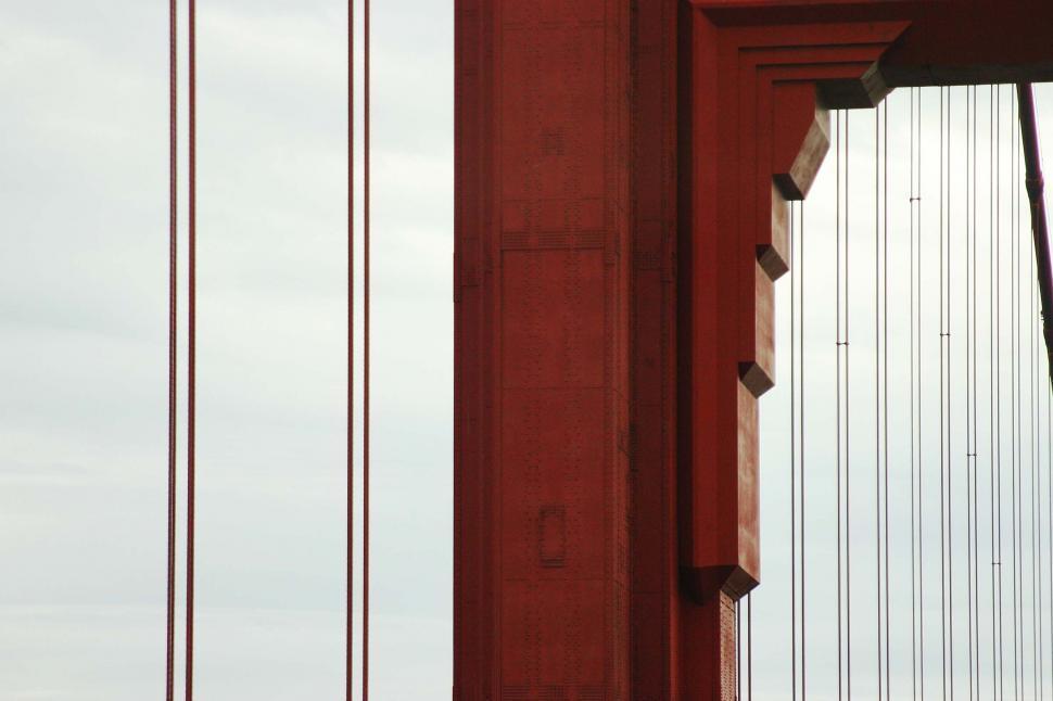 Download Free Stock HD Photo of golden gate bridge detail Online