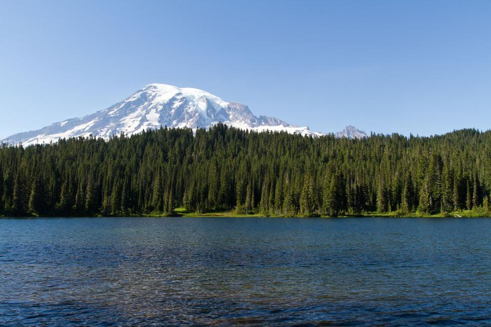 Download Free Stock HD Photo of Reflection Lake, Mount Rainer Online
