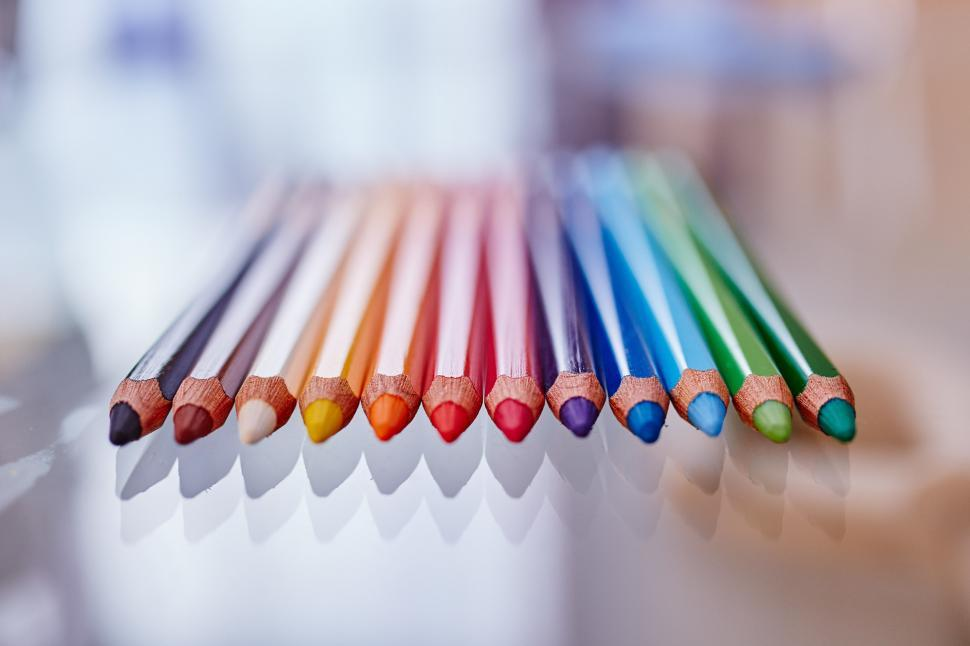 Download Free Stock HD Photo of Vivid colored pencils Online