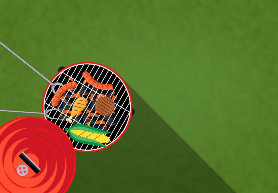 Download Free Stock HD Photo of Barbecue - BBQ Illustration with Copyspace Online