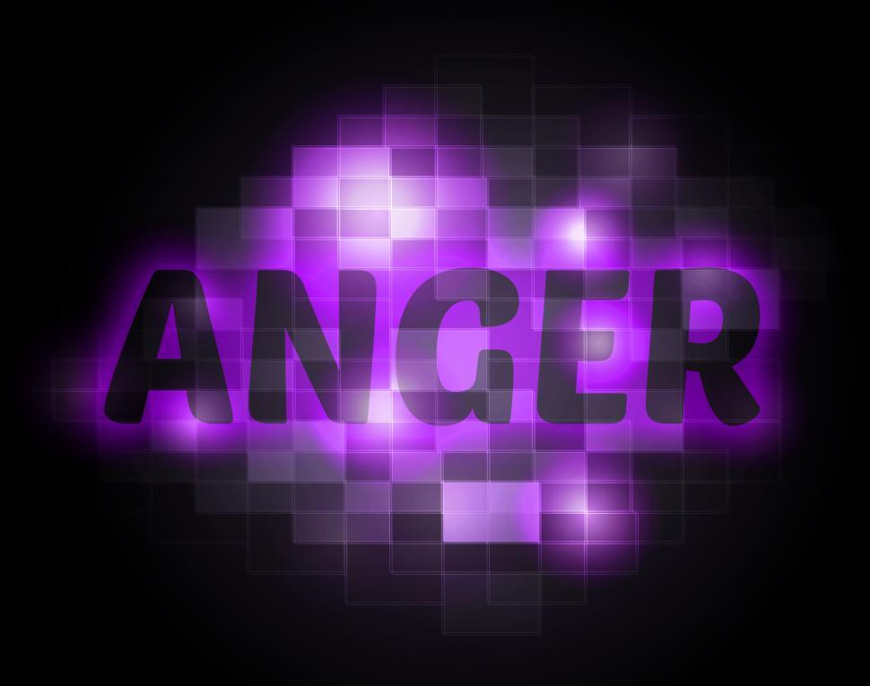 Download Free Stock HD Photo of Anger Word Indicates Unhappy Annoyed And Rage Online