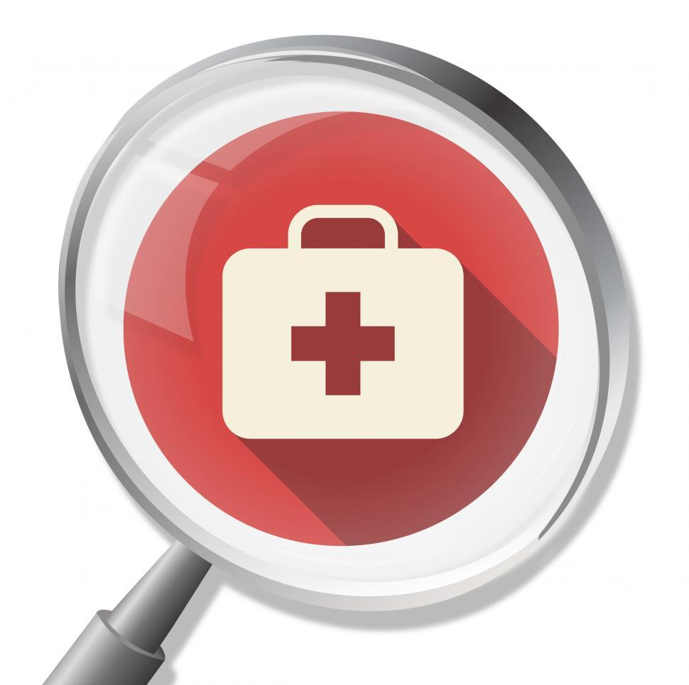 Download Free Stock HD Photo of First Aid Magnifier Shows Medicine Medic And Health Online