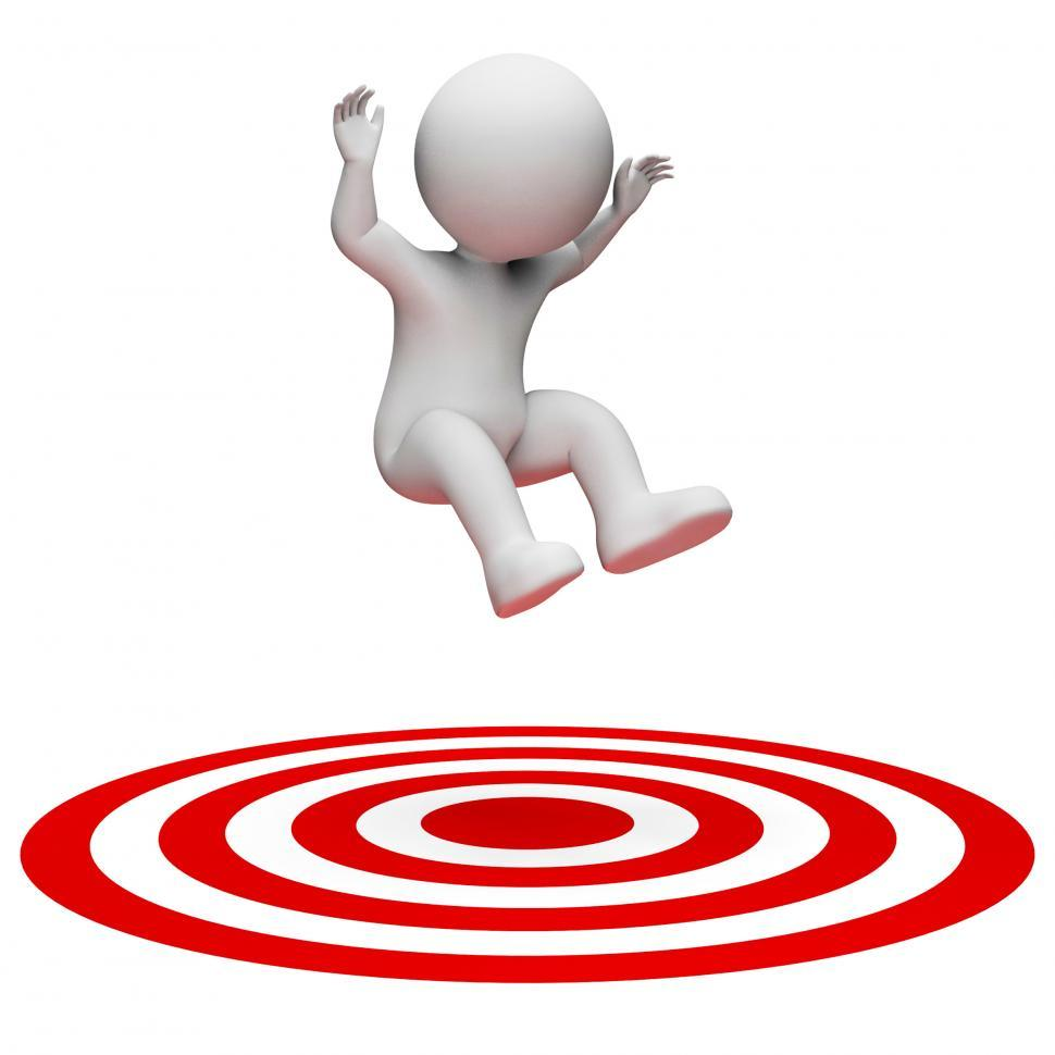 Download Free Stock HD Photo of Success Target Indicates Aiming Man And Illustration 3d Renderin Online