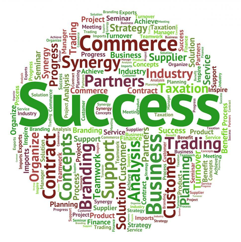 Download Free Stock HD Photo of Success Word Indicates Victors Successful And Victorious Online