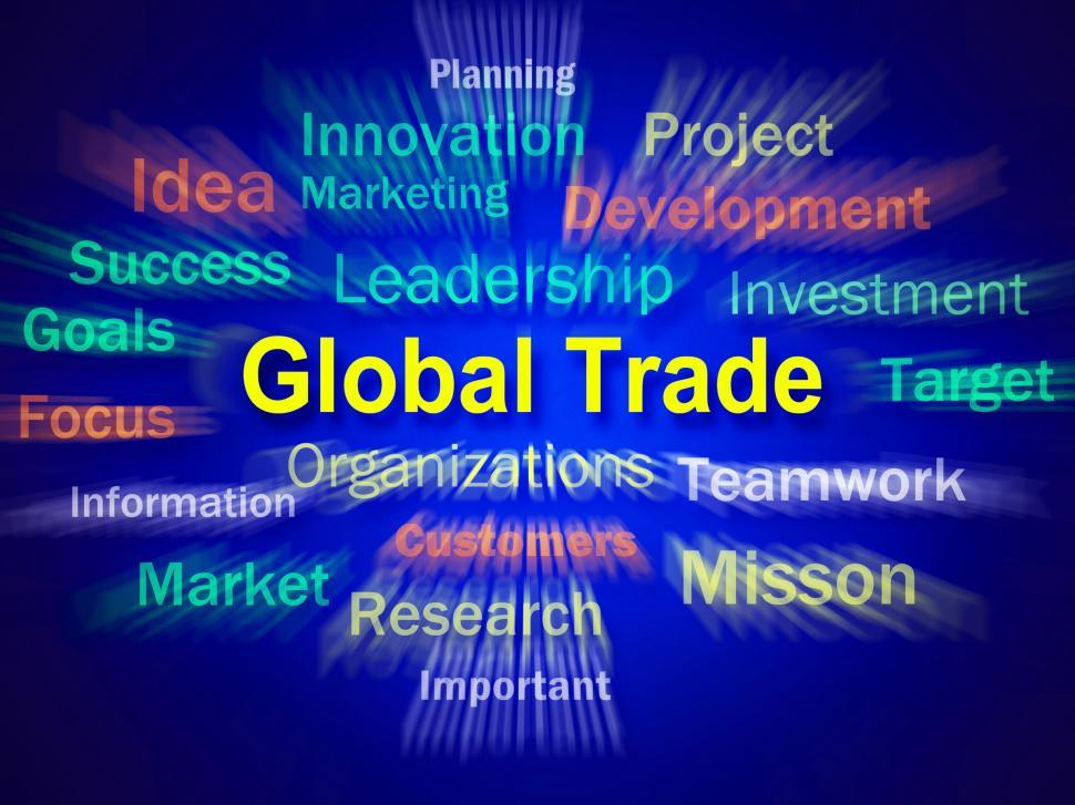 Download Free Stock HD Photo of Global Trade Brainstorm Displays Planning For International Comm Online