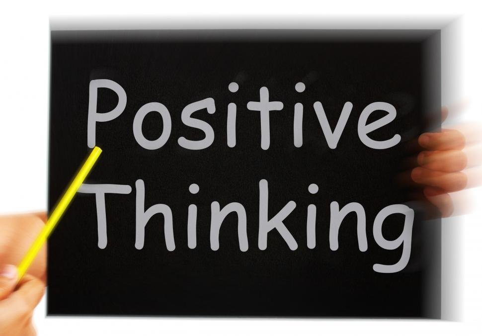 Download Free Stock HD Photo of Positive Thinking Message Shows Optimism And Bright Outlook Online