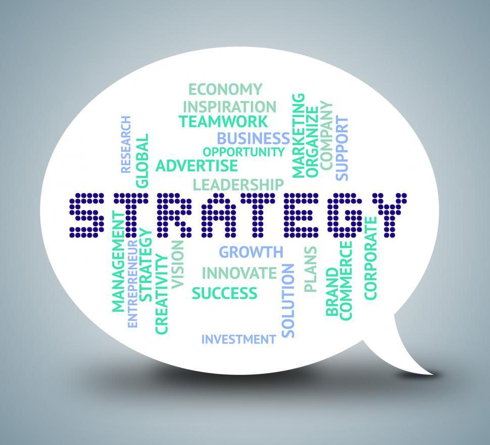 Download Free Stock HD Photo of Strategy Bubble Means Strategies Plan And Planning Online