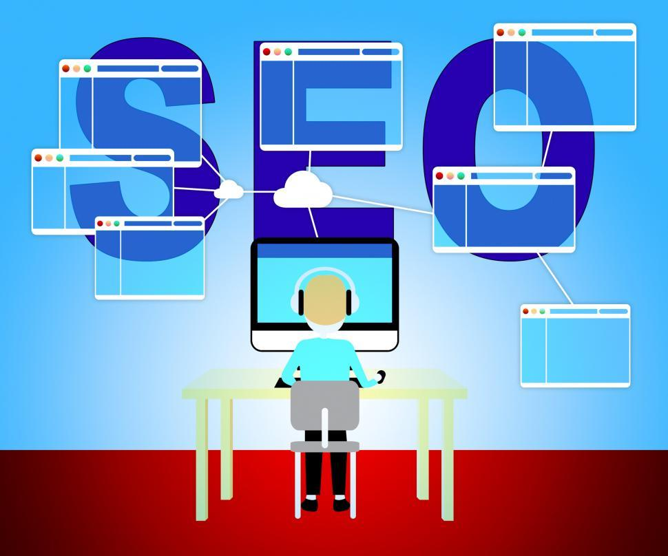Seo Marketing Shows Search Engine 3d Illustration