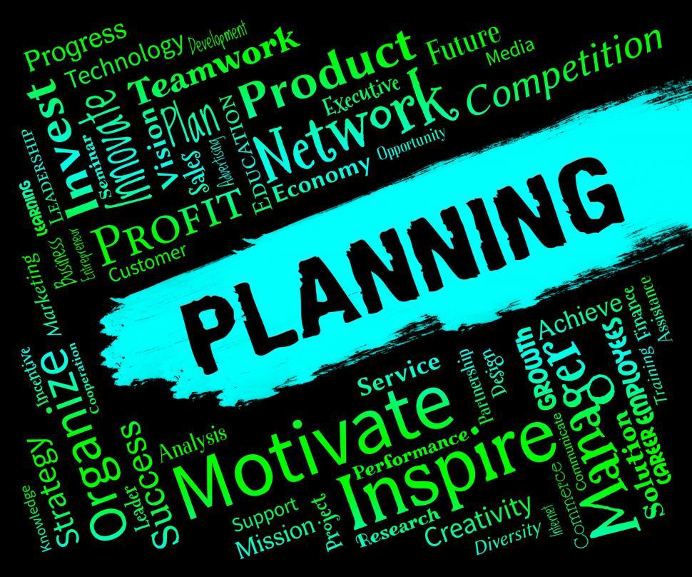 Download Free Stock HD Photo of Planning Words Represents Organizer Date And Planner Online