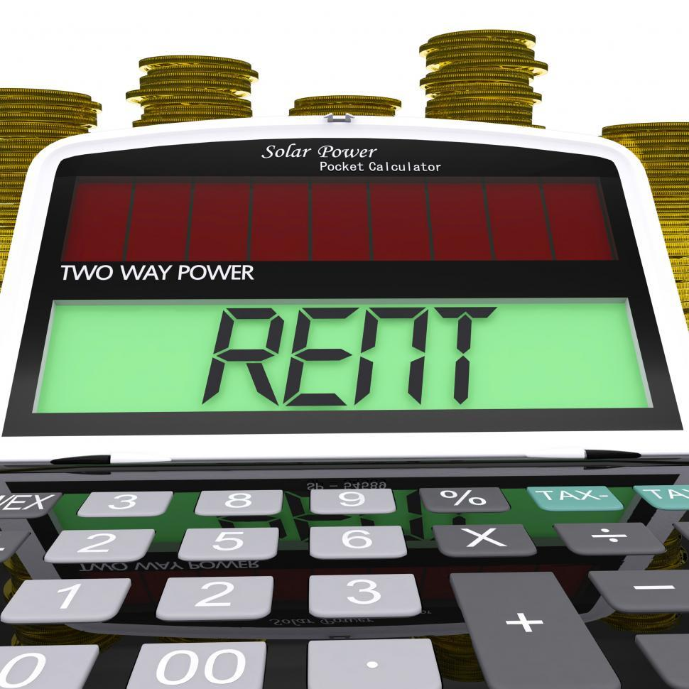 Download Free Stock HD Photo of Rent Calculator Means Payments To Landlord Or Property Manager Online