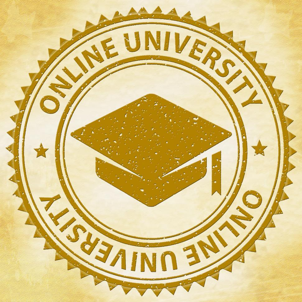 Download Free Stock HD Photo of Online University Shows Web Site And Educate Online