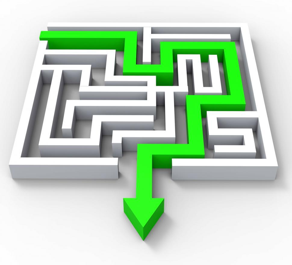 Download Free Stock HD Photo of Break Out Of Maze Showing Puzzle Online