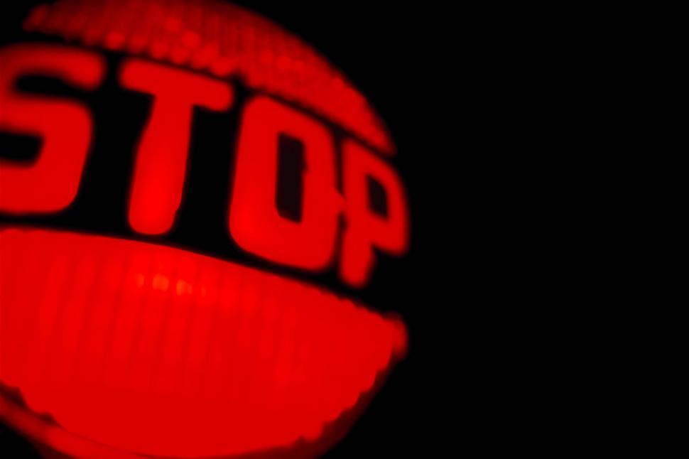 Free image of Red stop tail light glows in the dark
