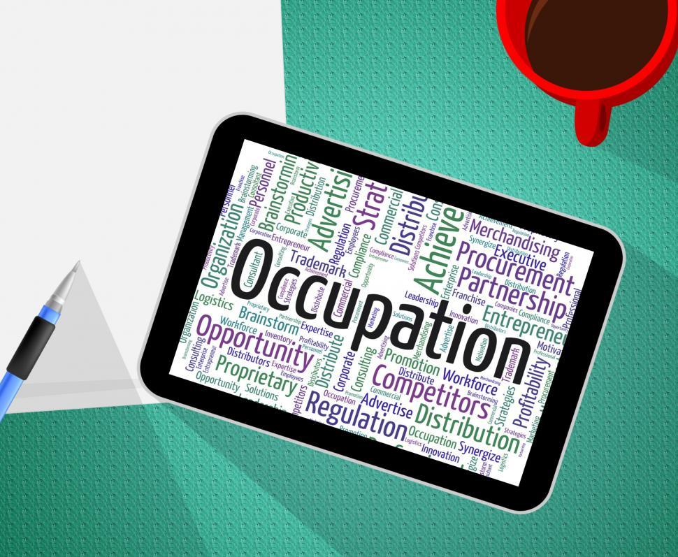 Download Free Stock HD Photo of Occupation Word Shows Line Of Work And Business Online