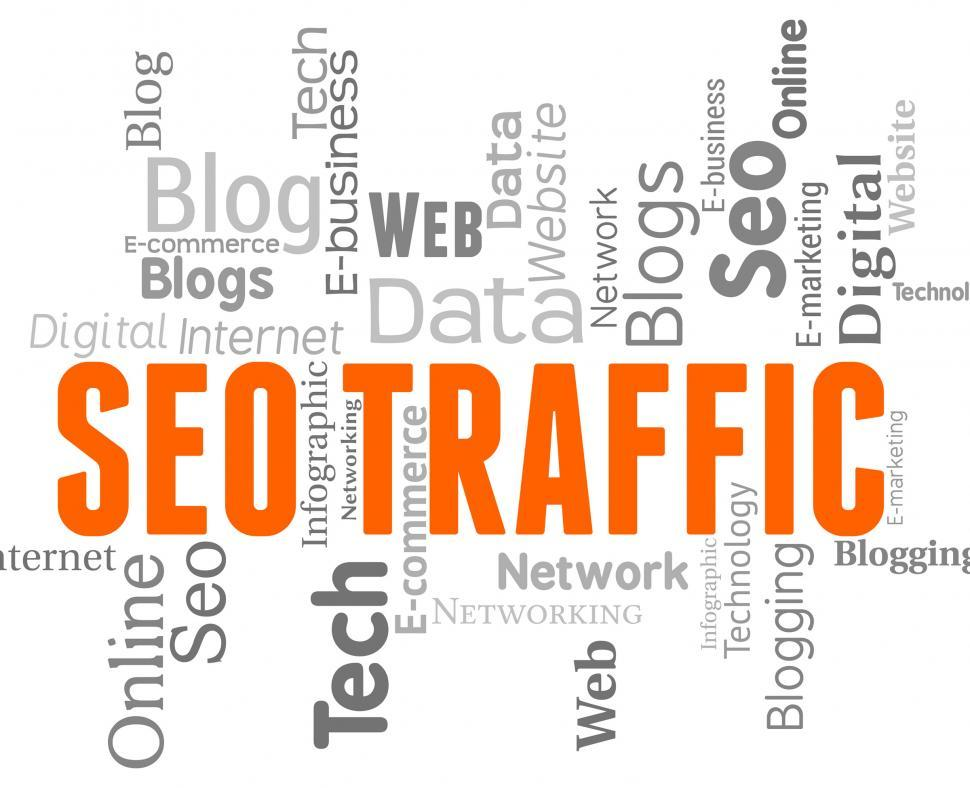 Download Free Stock HD Photo of Seo Traffic Shows Search Engines And Internet Online