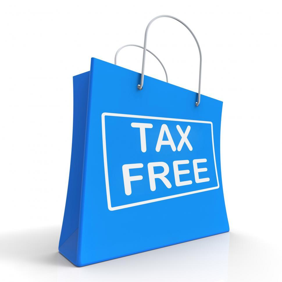 Download Free Stock HD Photo of Tax Free Shopping Bag Shows No Duty Taxation Online