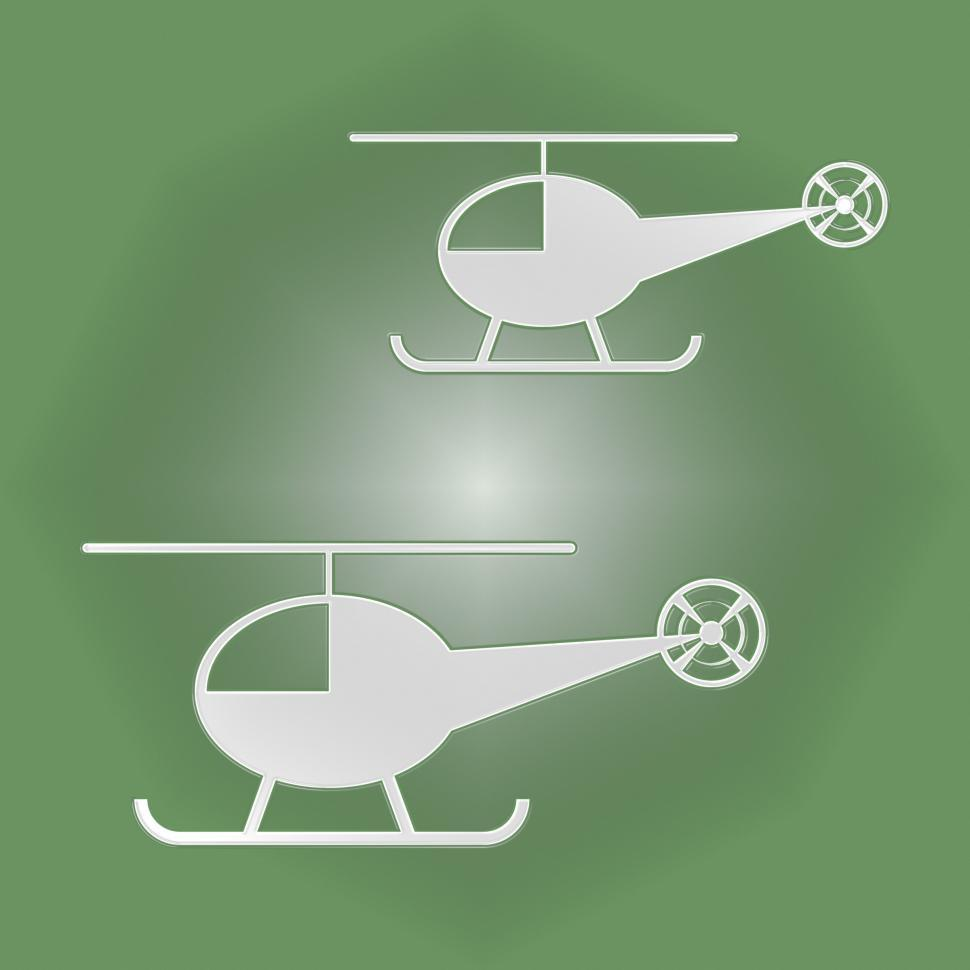 Download Free Stock HD Photo of Helicopters Icon Shows Rotor Midair And Flight Online