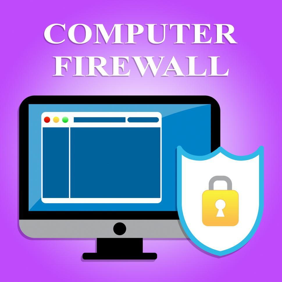 Download Free Stock HD Photo of Computer Firewall Shows Web Site And Digital Security Online