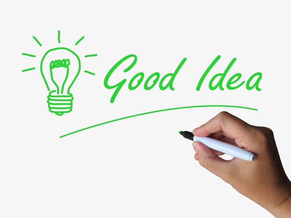 Download Free Stock HD Photo of Good Idea and Lightbulb Indicate Bright Ideas and Concepts Online
