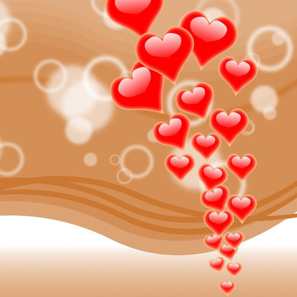 Download Free Stock HD Photo of Hearts On Background Means Romance Love And Passion Online
