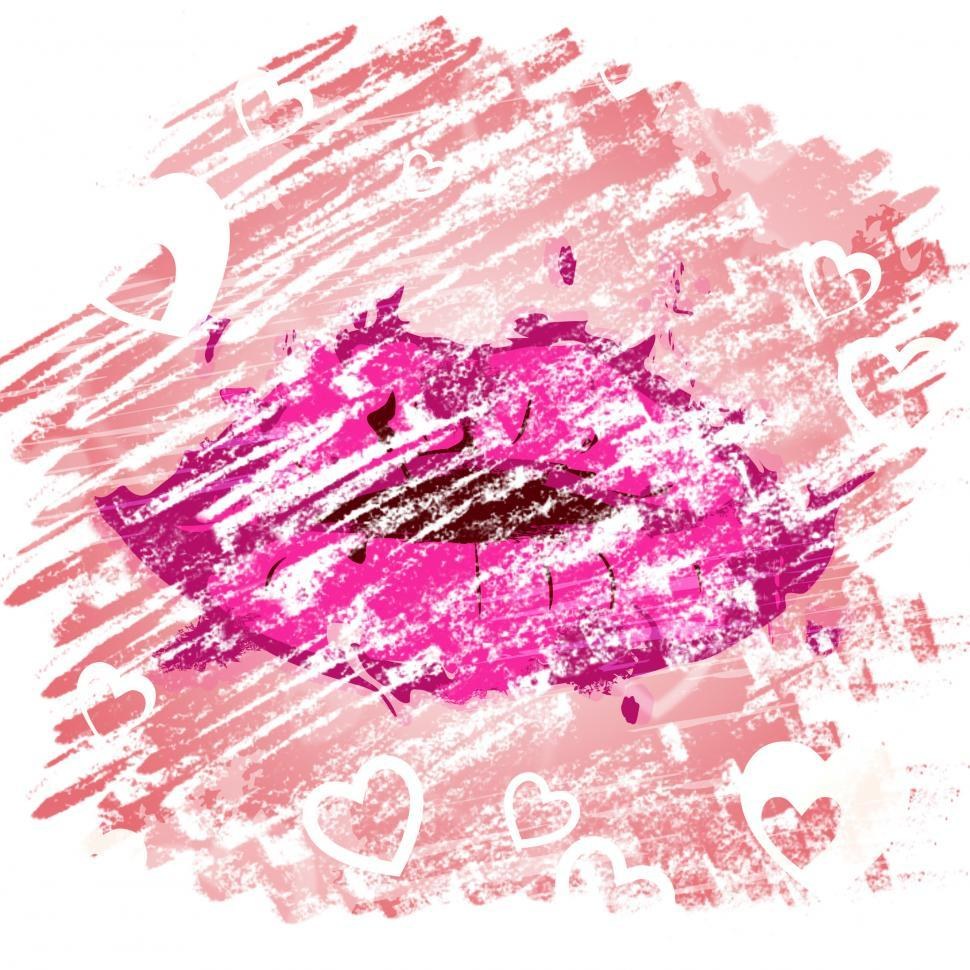Download Free Stock HD Photo of Lips Heart Shows Make Up And Affections Online