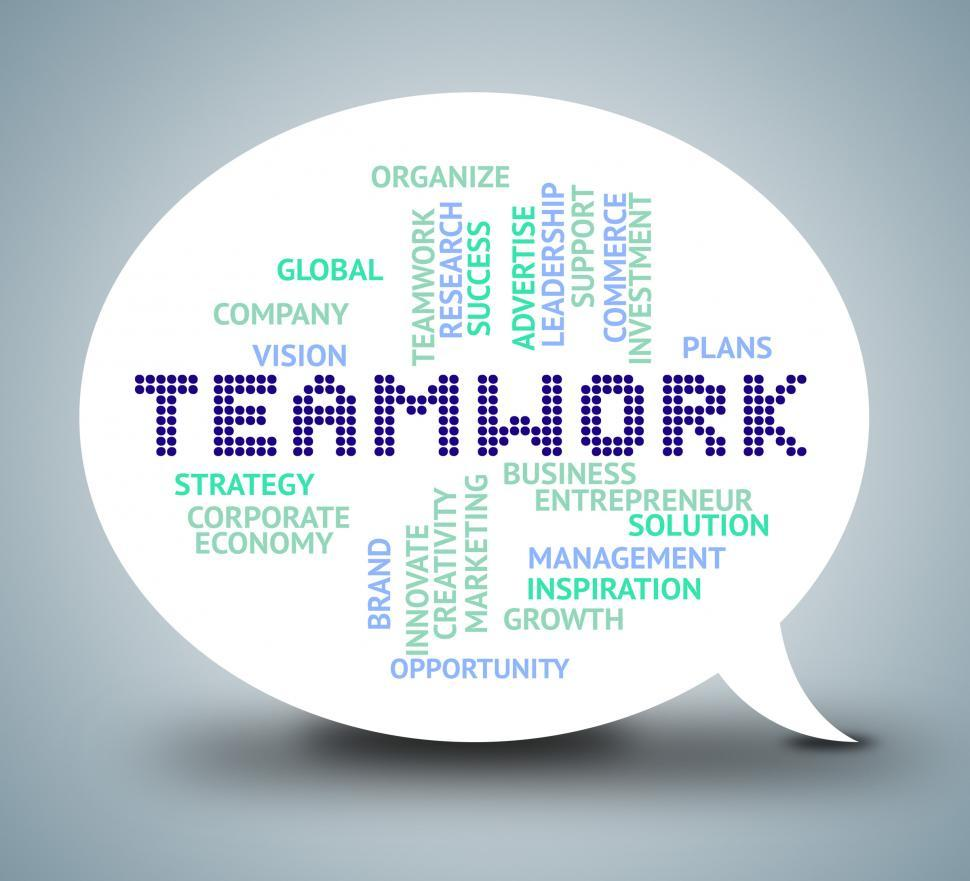 Download Free Stock HD Photo of Teamwork Bubble Shows Working Together And Unity Online