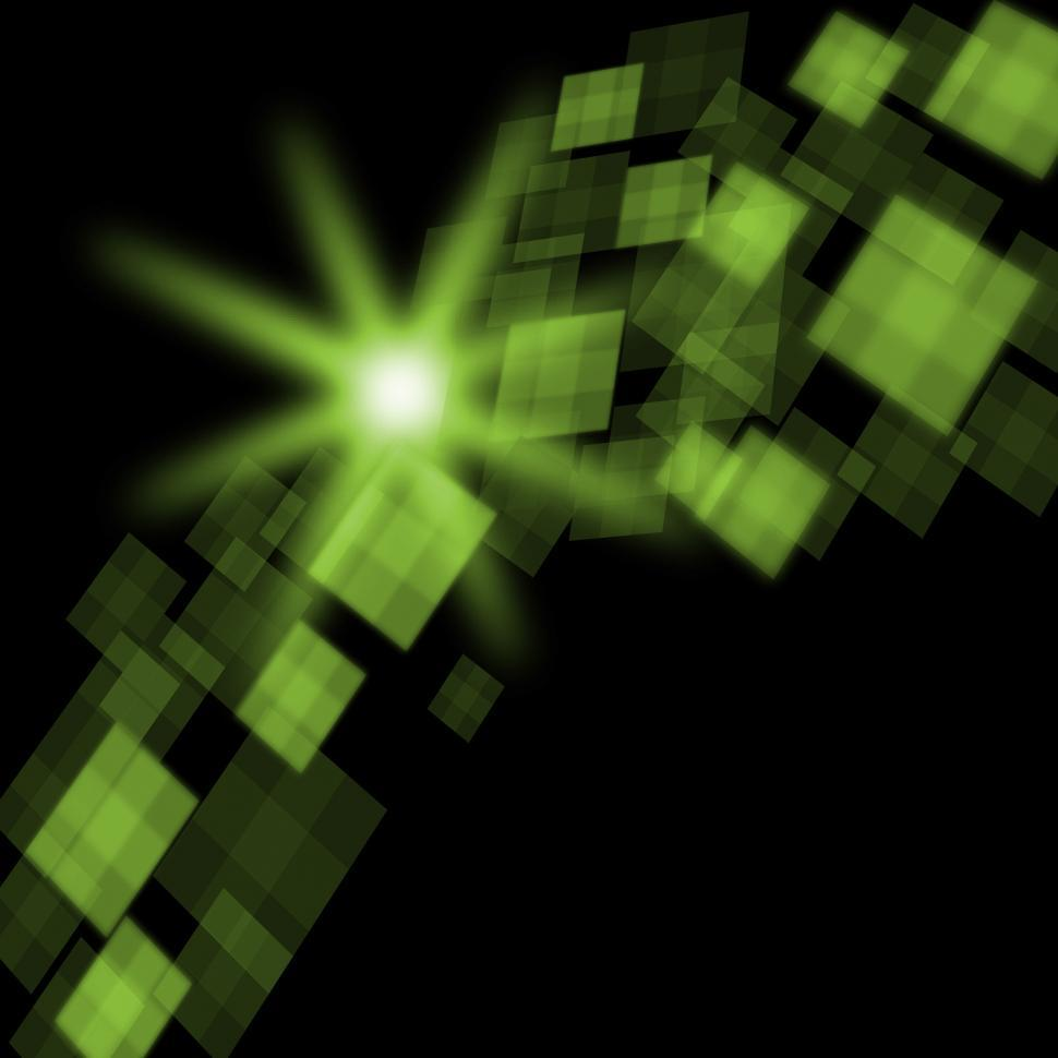 Download Free Stock HD Photo of Green Cubes Background Means Futuristic Concept Or Pixeled Desig Online