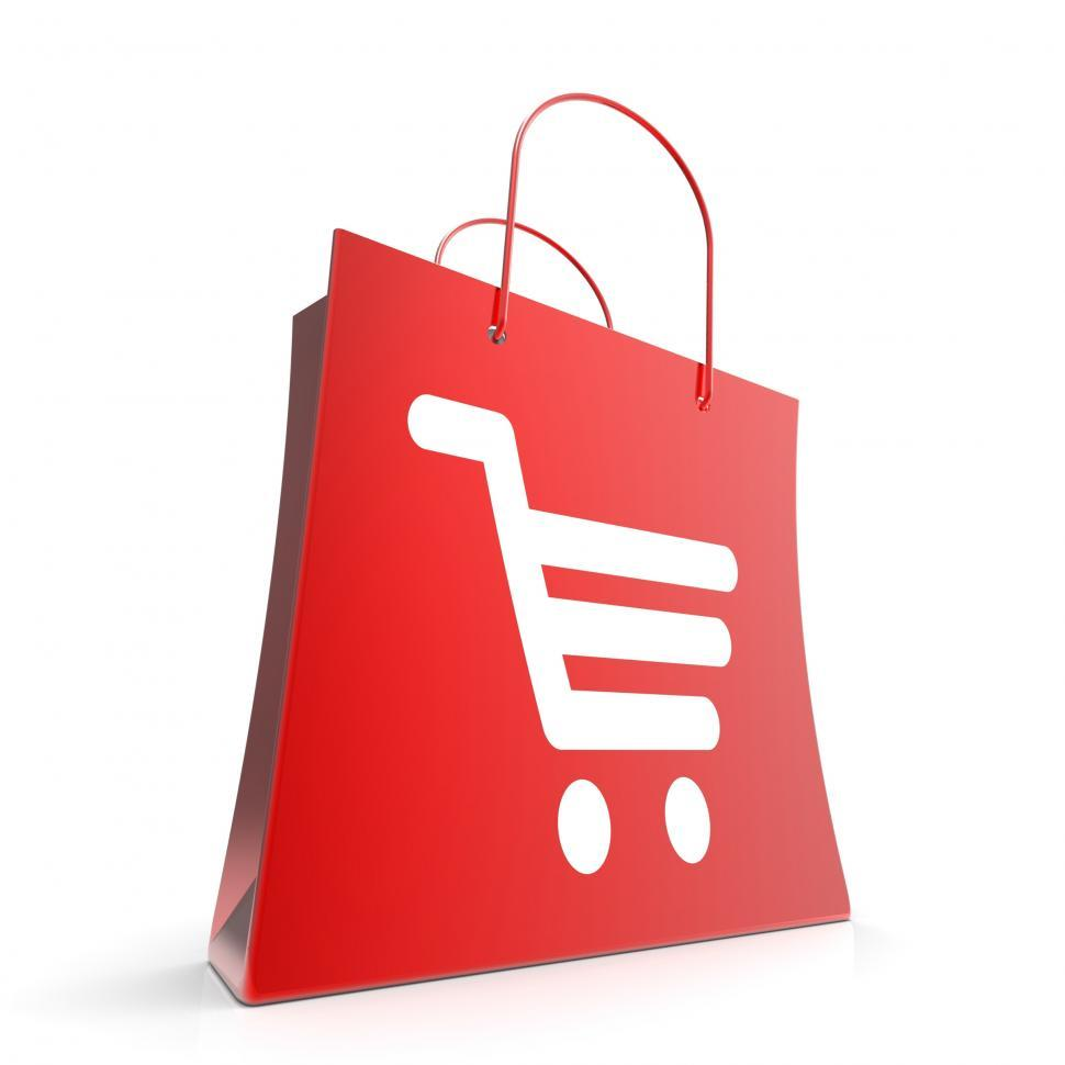 Download Free Stock HD Photo of Shopping Cart Bag Shows Basket Checkout Online