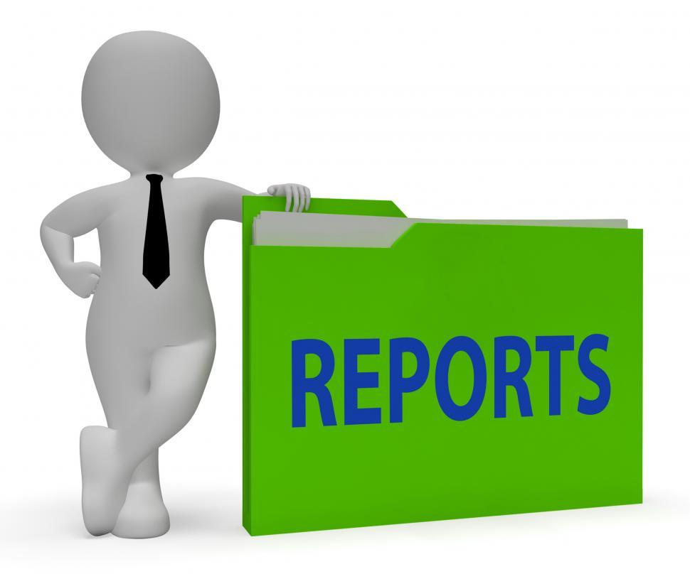 Download Free Stock HD Photo of Reports Folder Shows Arranging Files And Data 3d Rendering Online